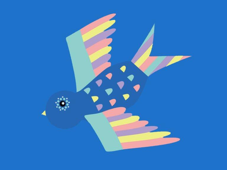 techno bird logo
